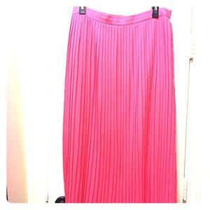J.crew maxi pleated skirt